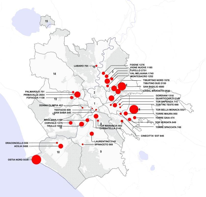 QUARTIERI CASE POPOLARI Municipi Roma